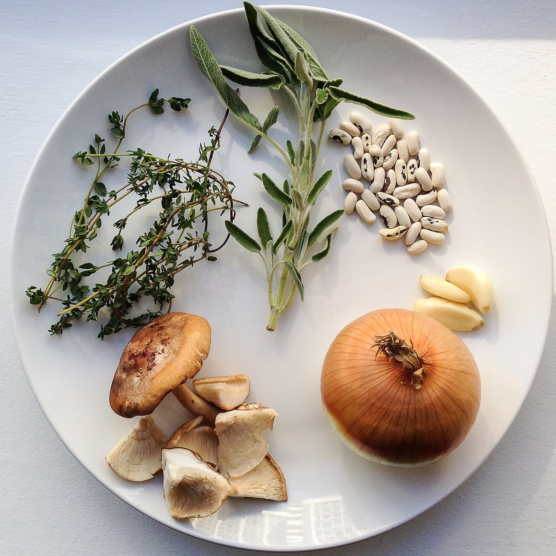 white bean soup recipe with shitake mushrooms