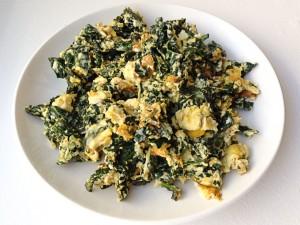 scrambled eggs with kale recipe