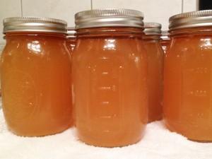 Chicken stock recipe canned in mason jars