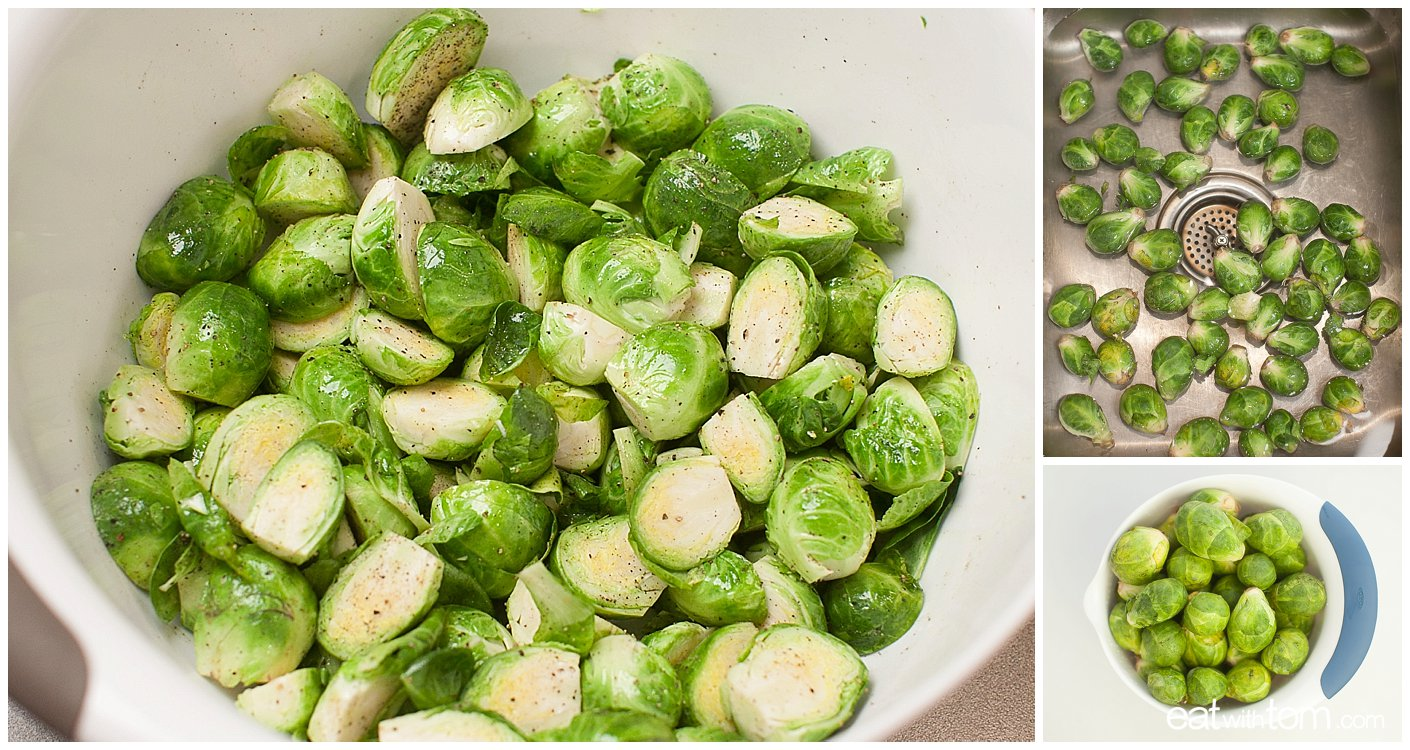 Best way to prepare Brussels Sprouts how to clean and cut for Brussels sprouts grapes