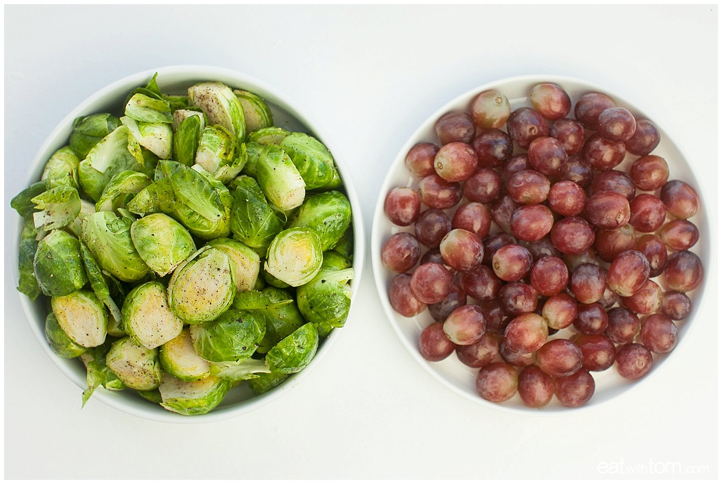 how to make roasted Brussels sprouts with grapes olive oil recipe