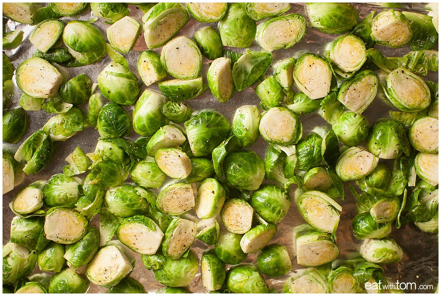 Recipe for roasting Brussels Sprouts with Grapes vegetable side dish
