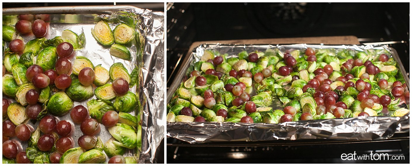 Best gourmet recipes for side dishes roasted brussels sprouts with grapes sweet and savory