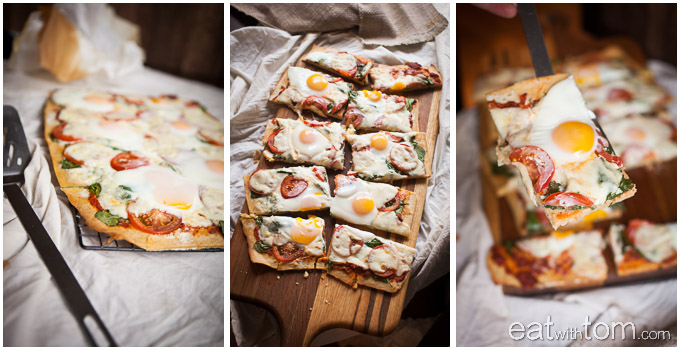 chickpea pizza crust recipe with eggs on top unique