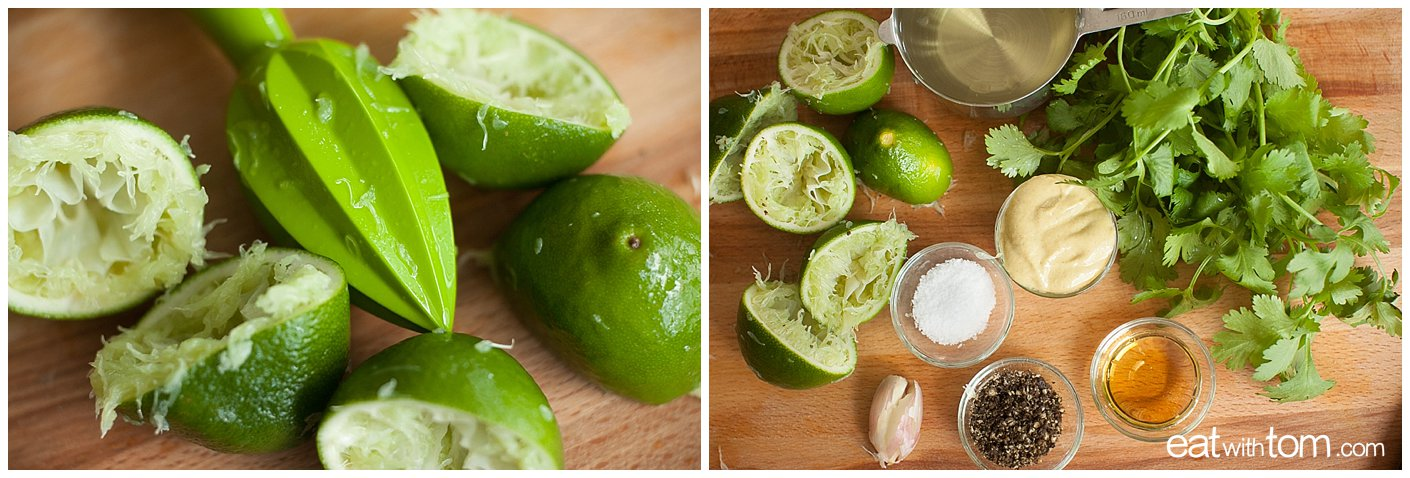 Limey vinaigrette for avocado salad healthy recipe