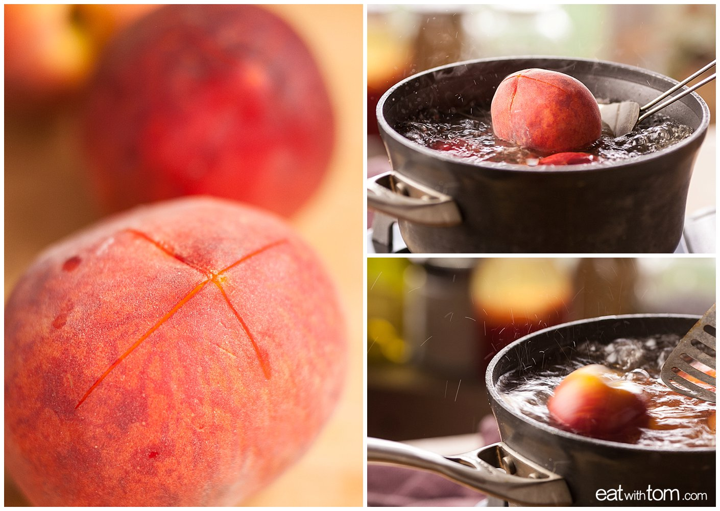 Peach quinoa crumble dessert recipe -How to peel peaches for peach cobbler crisp crumble
