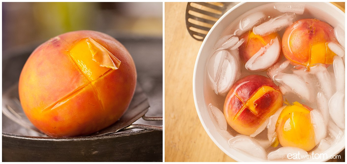 How to peel a peach for peach crisp cobbler recipes