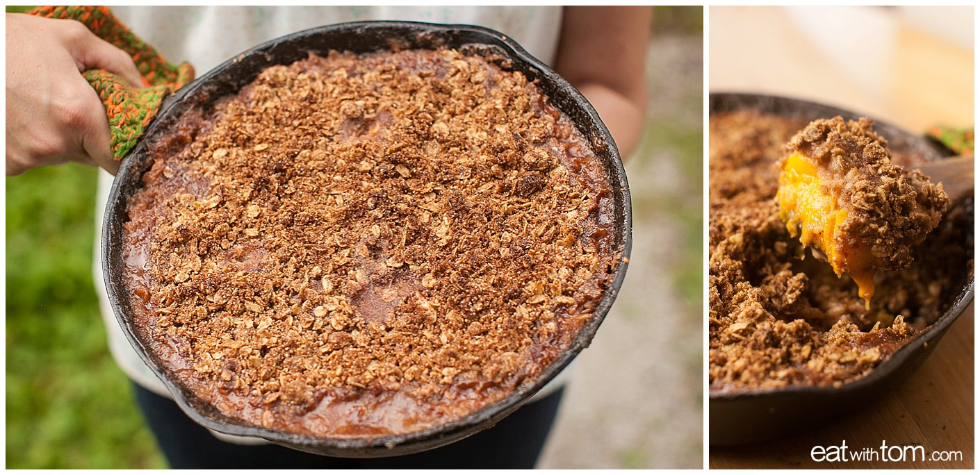 Peach quinoa crumble dessert recipe - Healthy fruit recipes easy peach seasonal