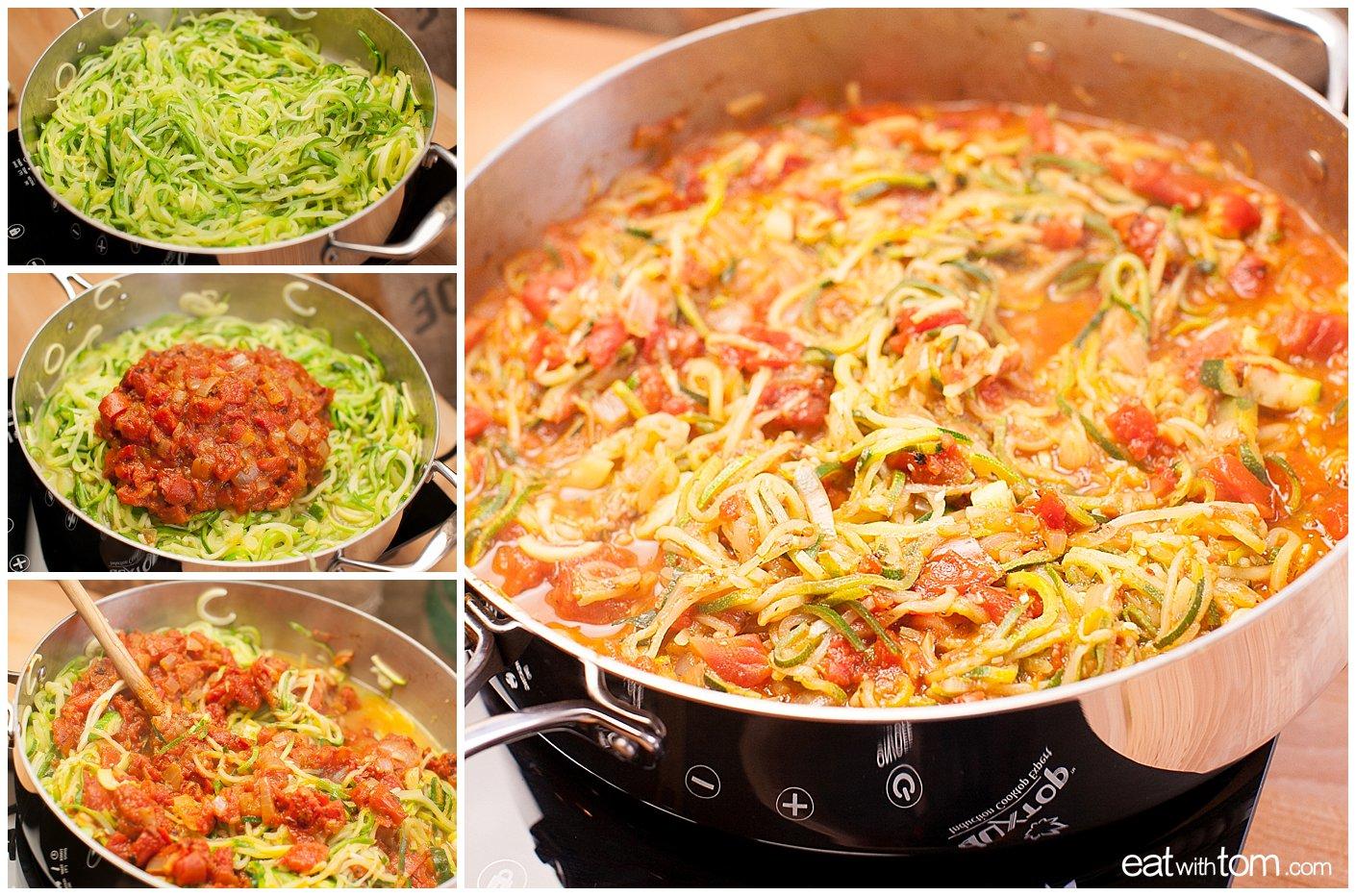 Best zucchini spiralizer noodle recipe spaghetti - Primal paleo eating dishes