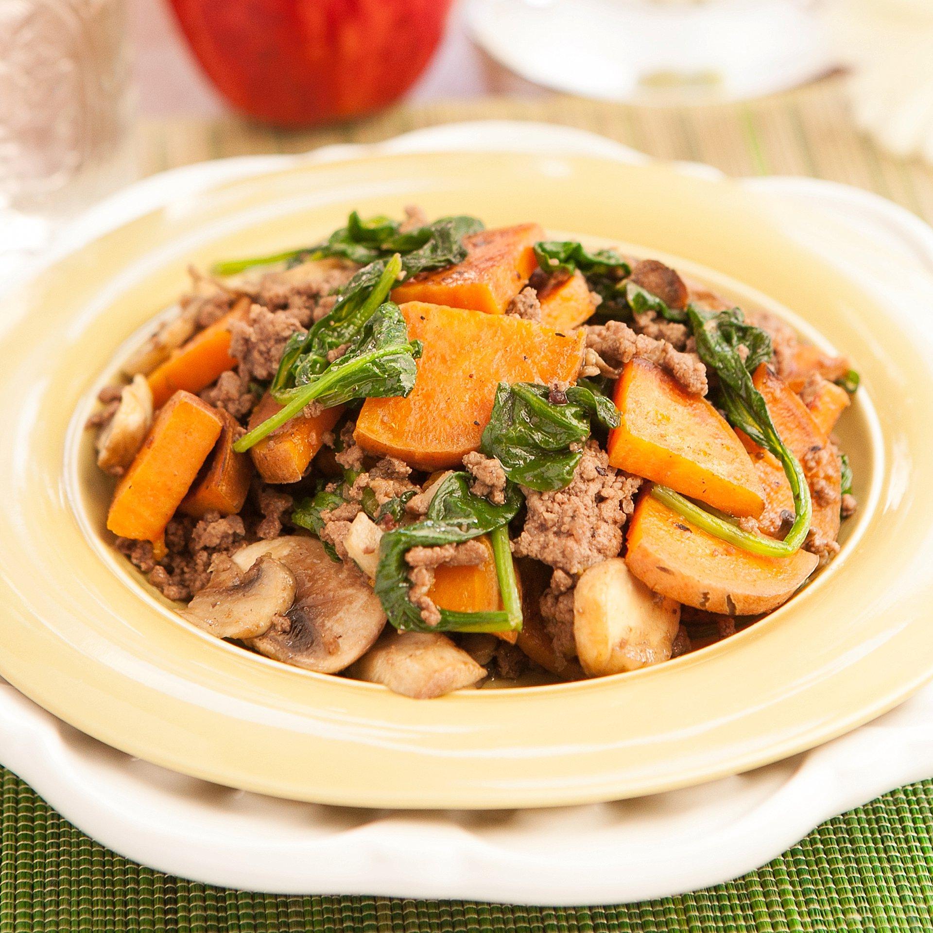 Sweet Potatoes with Hamburger Breakfast Recipe