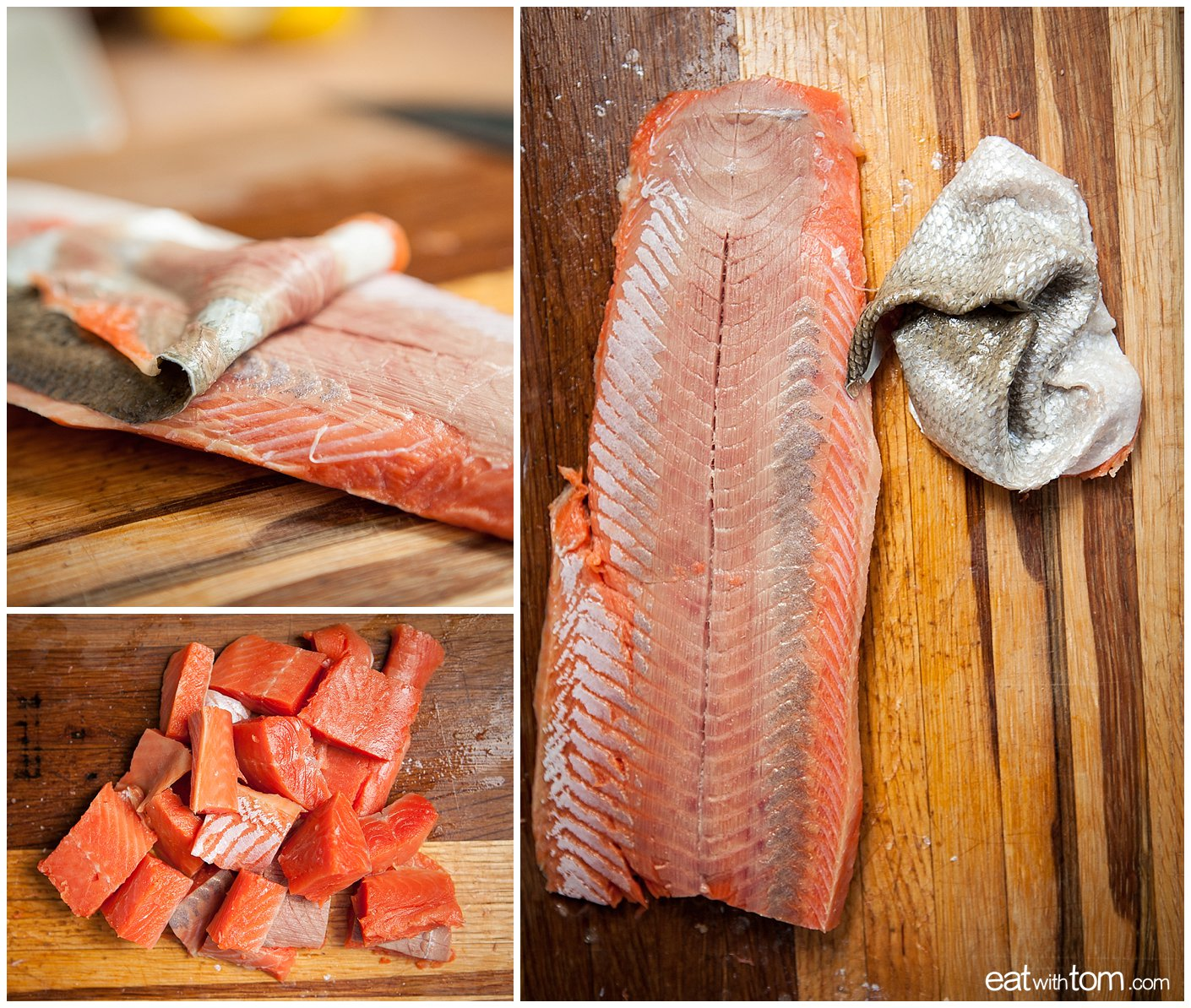 coho salmon for summer seafood stew recipe eat with Tom Schmidt