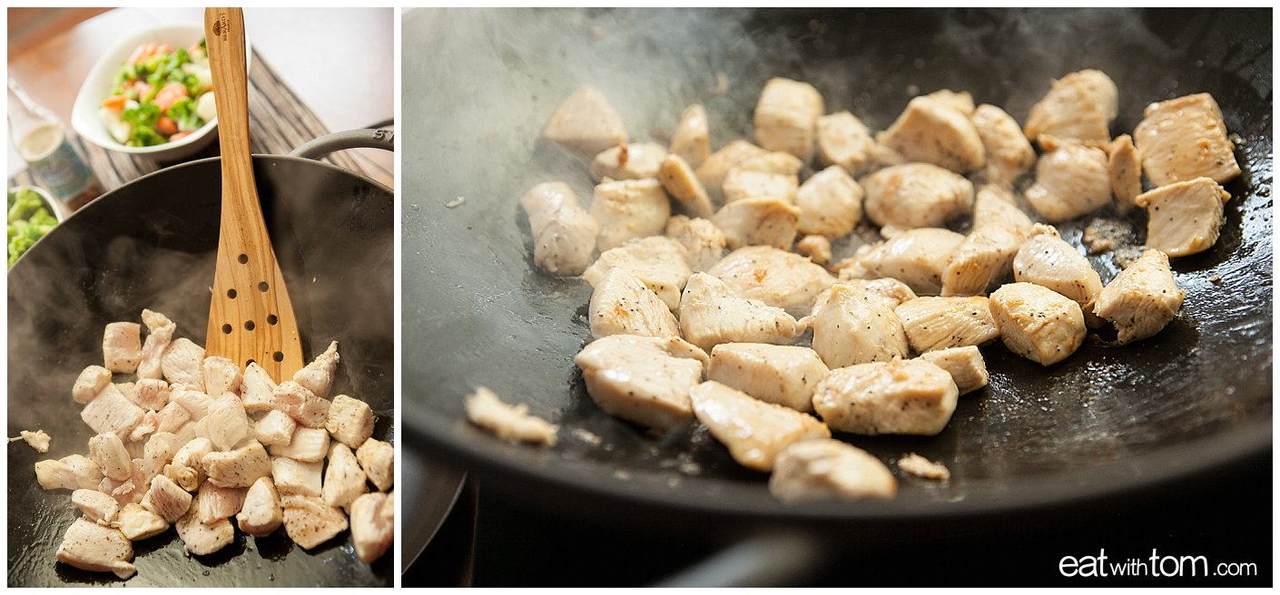 Illustrated chicken stir fry recipe food blog