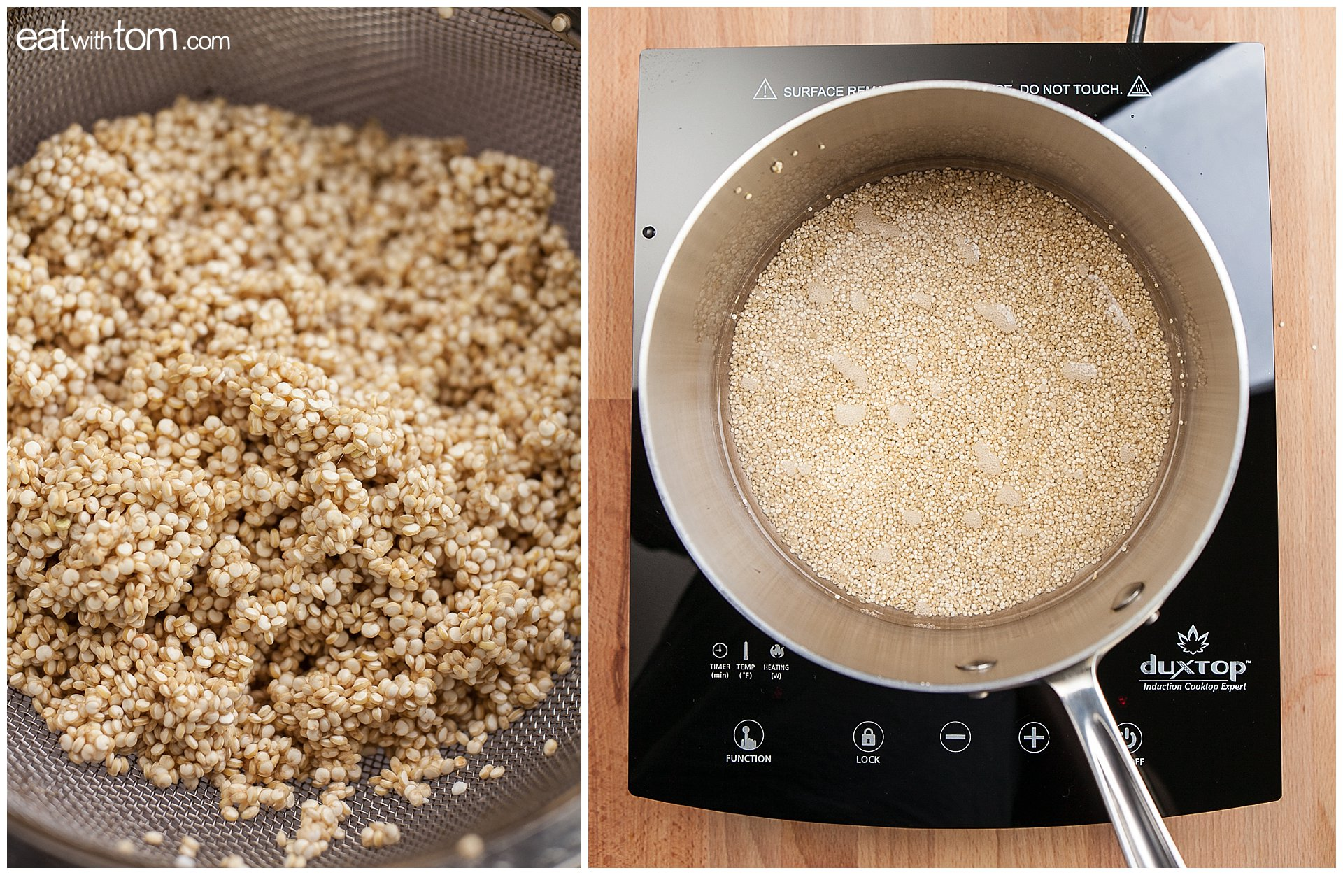 Quinoa Recipe Healthy Eating Ideas - Avocado Black Beans Cilantro Cucumbers Easy Lunch
