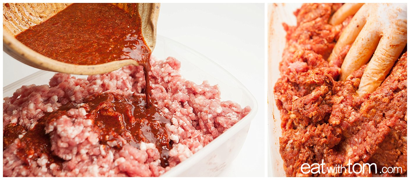 How to combine ground pork with chorizo spice - Cooking with Tom Schmidt