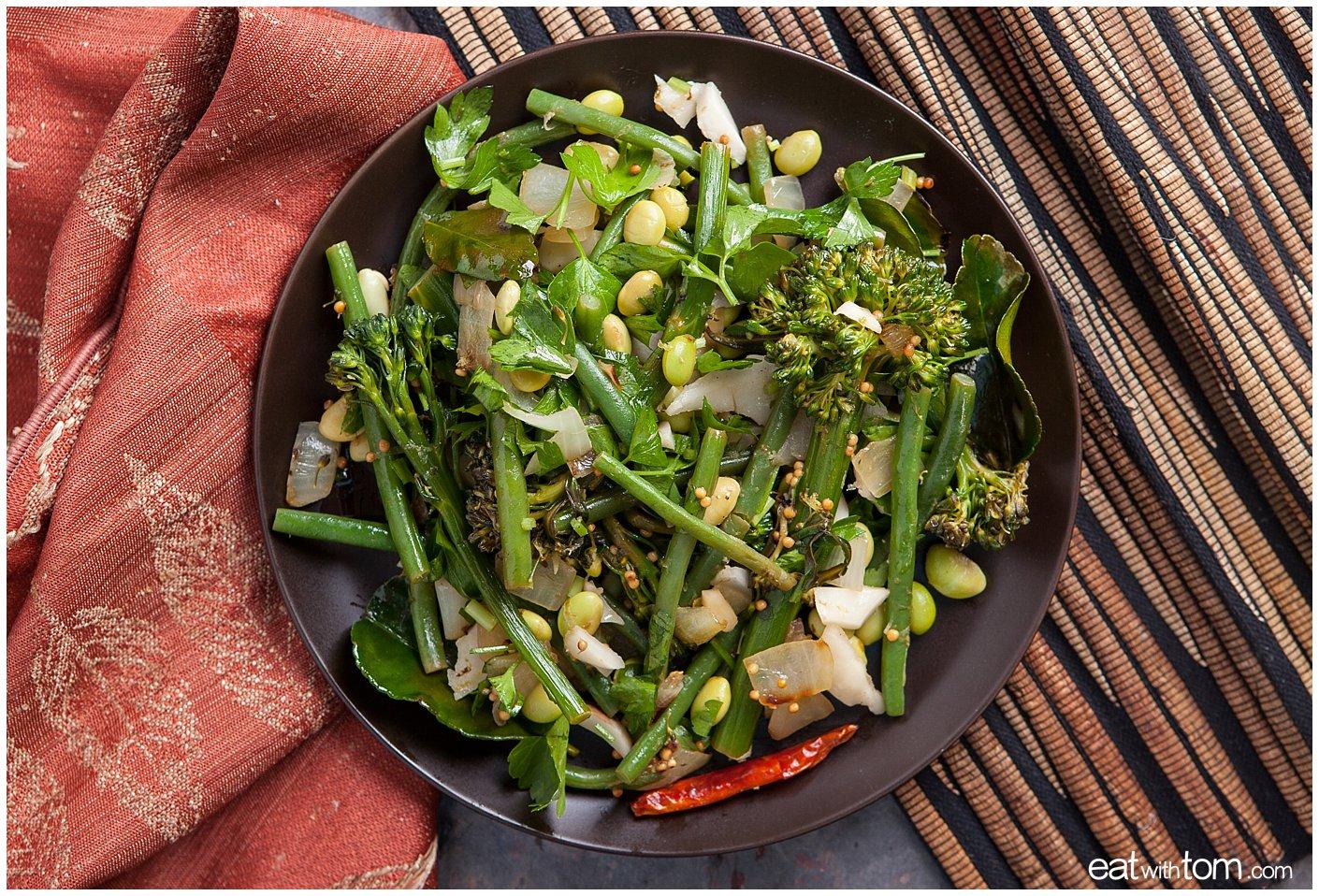 Asian green bean coconut broccolini recipe edamame eat with tom