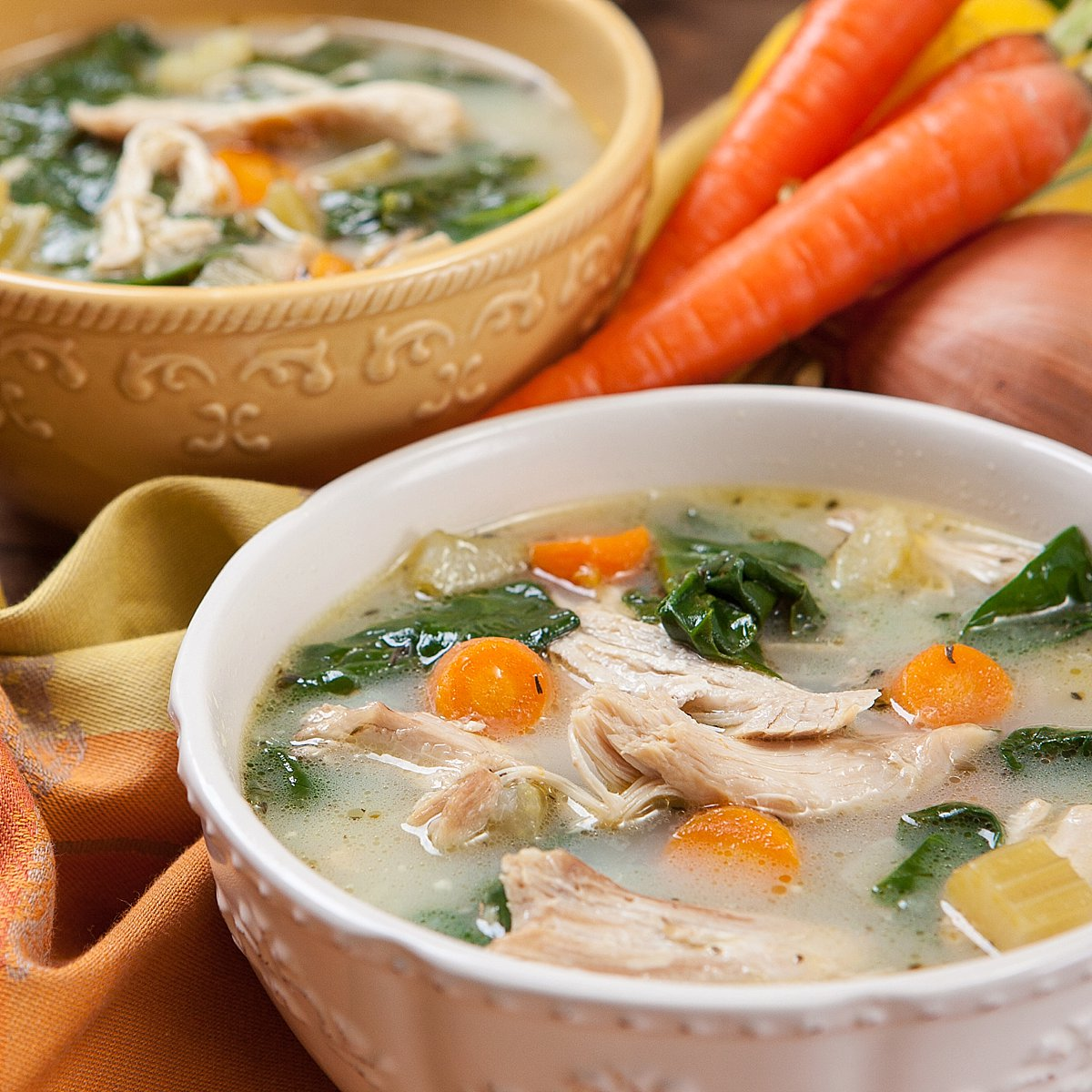 Pressure Cooker chicken soup recipe lemon vegetable