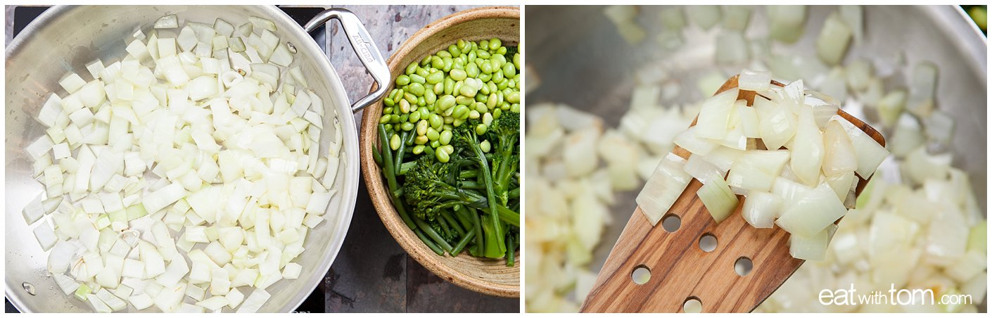 Asian green bean recipe coconut broccolini edamame eat with tom