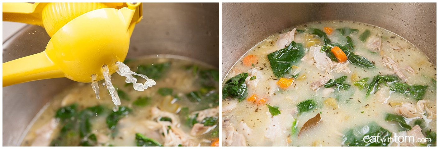 Return chicken to pot and cook very briefly, about 1-2 minutes at a gentle simmer. It's plenty cooked already, we just want to warm it back up!