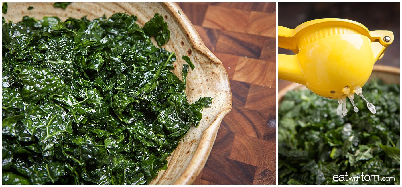 Kale Salad Recipe Parmesan Lemon Ceasar true food weil eatwithtom 0665