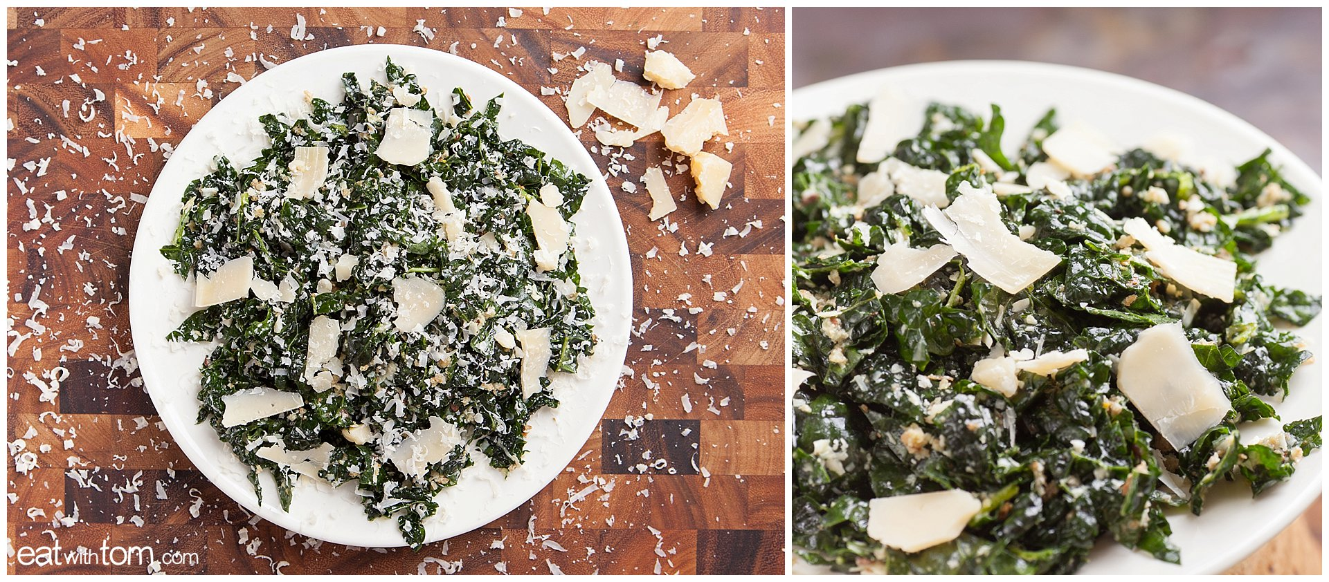 Kale Salad Recipe Parmesan Lemon Caesar true food weil eatwithtom 0669