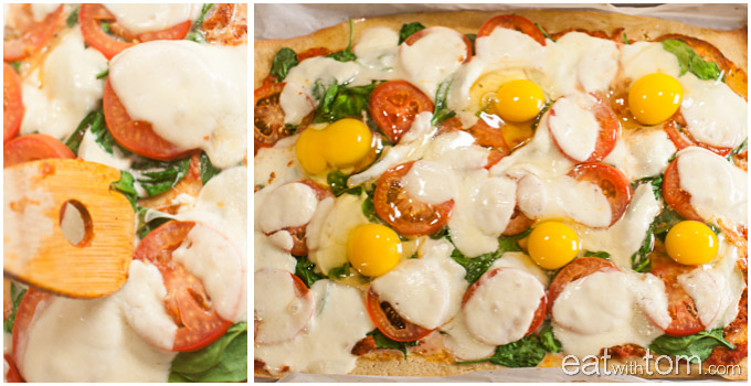 Best recipe for egg pizza - margherita pizza