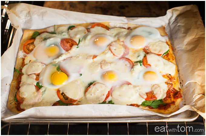 How to make low carb chickpea flour pizza for dinner
