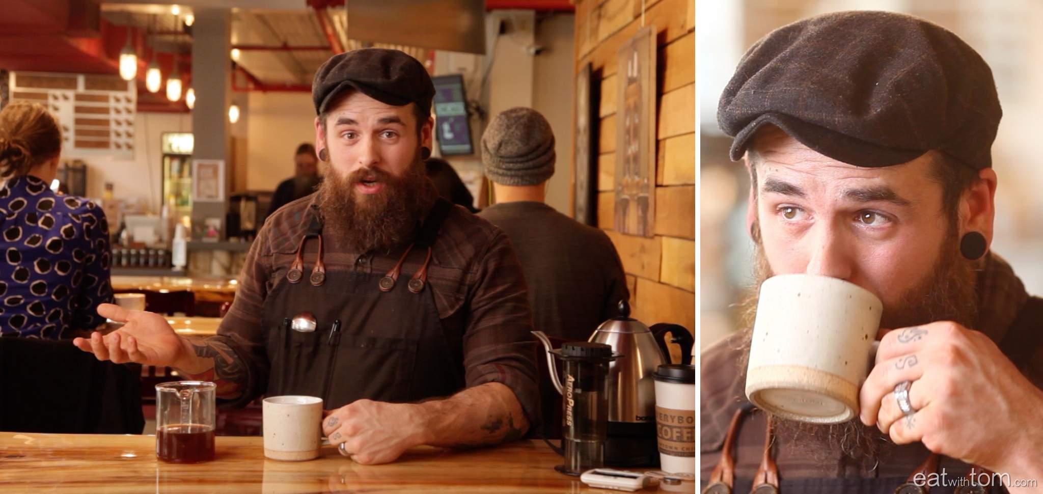 Coffee Expert Josh in Chicago, inverted aeropress instructions