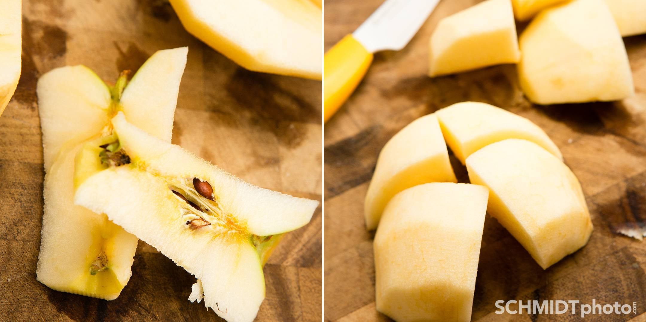 How to cut up apples for homemade applesauce easy