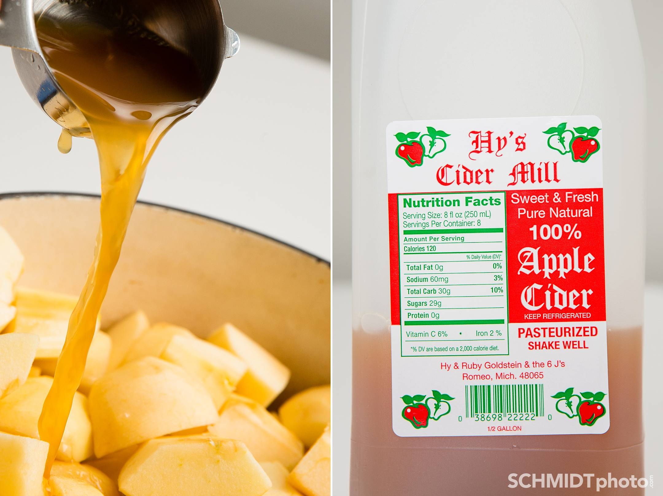 Applesauce with apple cider for flavored recipe