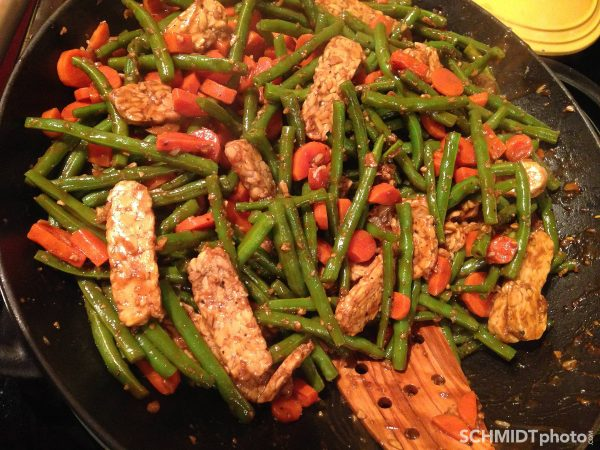 How to make green bean and tempeh stir fry from scratch in wok at home Tom Schmidt