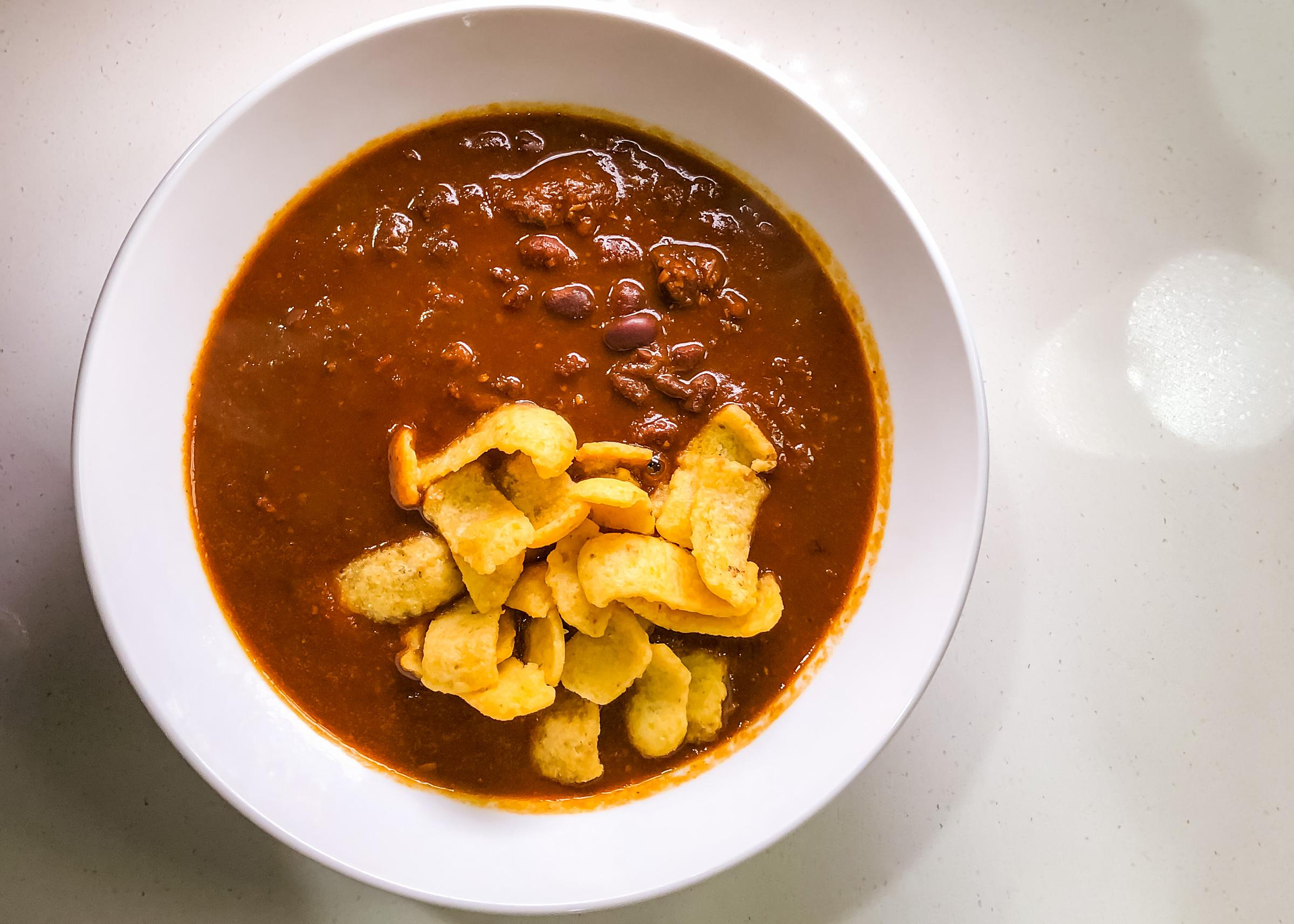 Eat with Tom Schmidt Chili recipe - Dried beans and whole chile peppers method in instant pot
